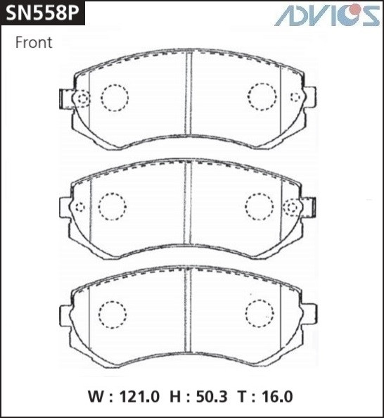 Дисковые тормозные колодки ADVICS SN558P SN558P купить в Абакане