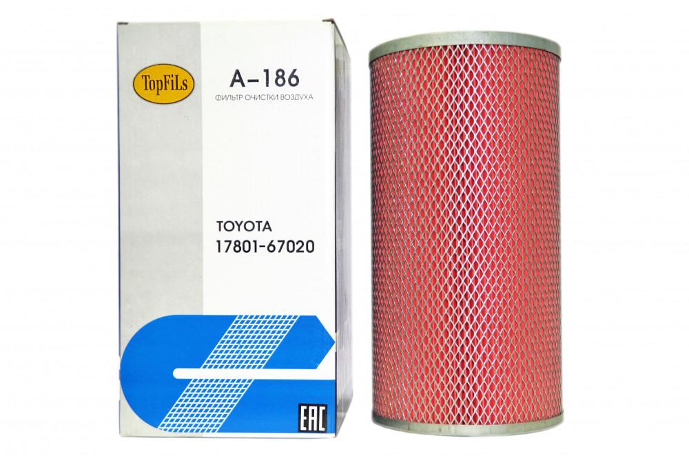 Фильтр воздушный TOP FILS A-186 17801-67020 A-186 купить в Абакане