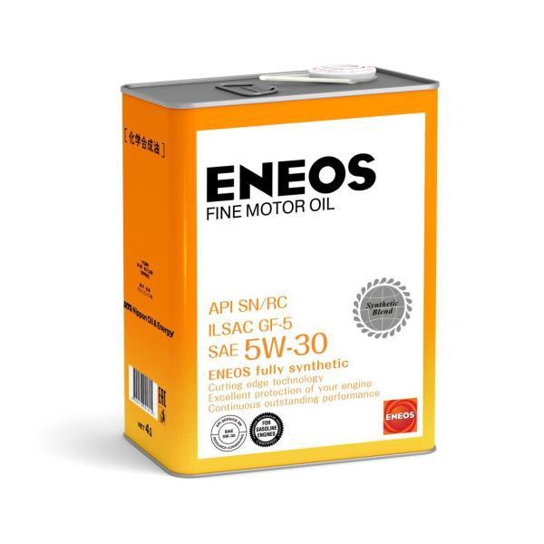 Моторное масло Масло моторное ENEOS FINE MOTOR OIL SN Синтетика 5W-30 4л 4943589134833 купить в Абакане