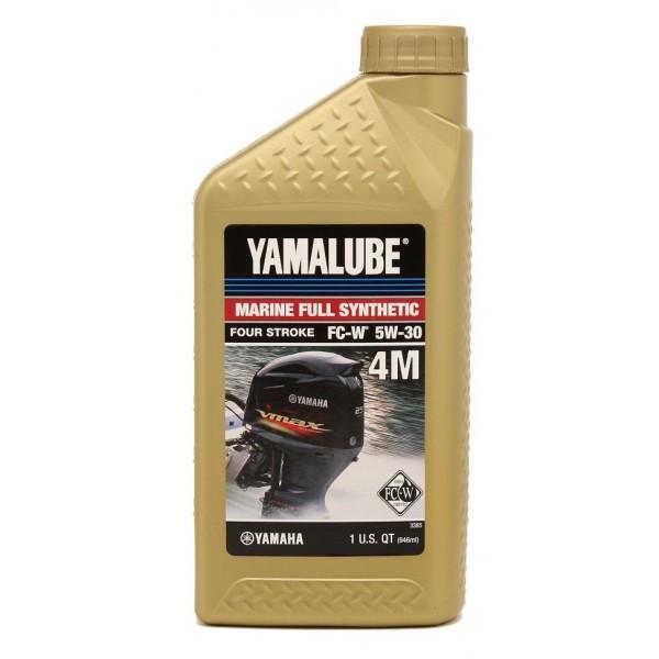 Моторное масло Yamalube 4M 5W-30 Marine Synthetic Oil (0, 946 л) LUB05W30FC12 купить в Абакане