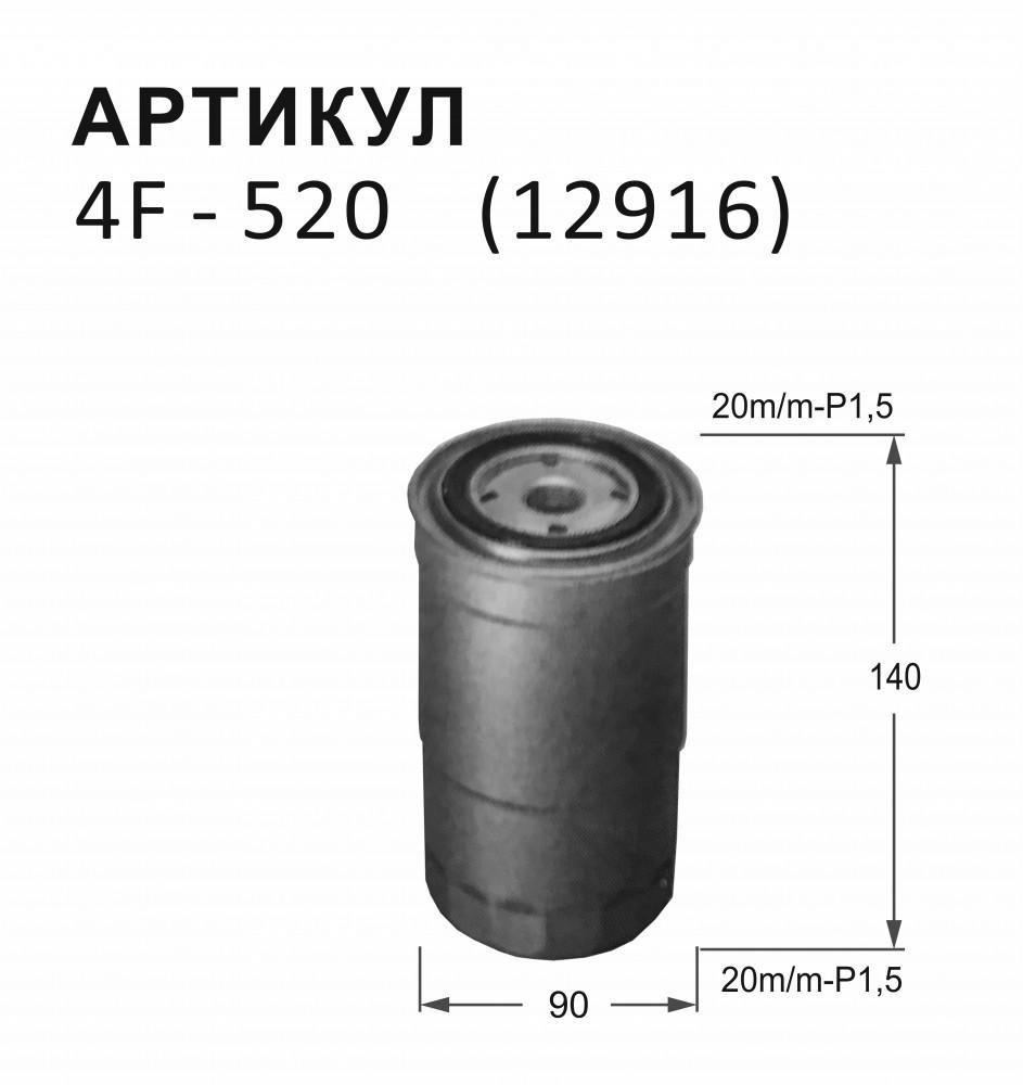 Фильтр топливный Nitto 4F-520 4F-520 купить в Абакане