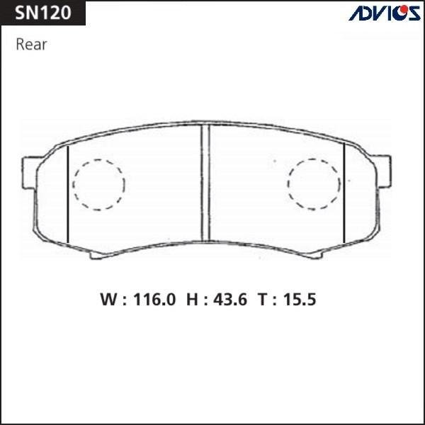 Дисковые тормозные колодки ADVICS SN120 SN120 купить в Абакане