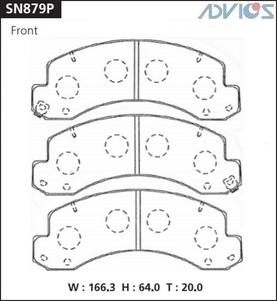 Дисковые тормозные колодки ADVICS SN879P SN879P купить в Абакане