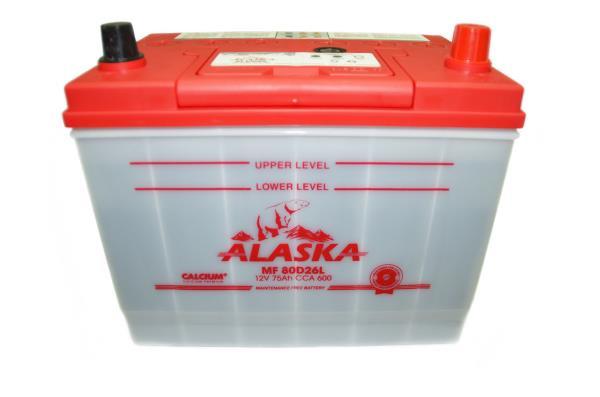 Аккумуляторная батарея ALASKA MF 257 / 172 / 220, 75А / ч, ССА 600А, Обслуж-й, Обр. 80D26L calcium + 8808240010504 купить в Абакане