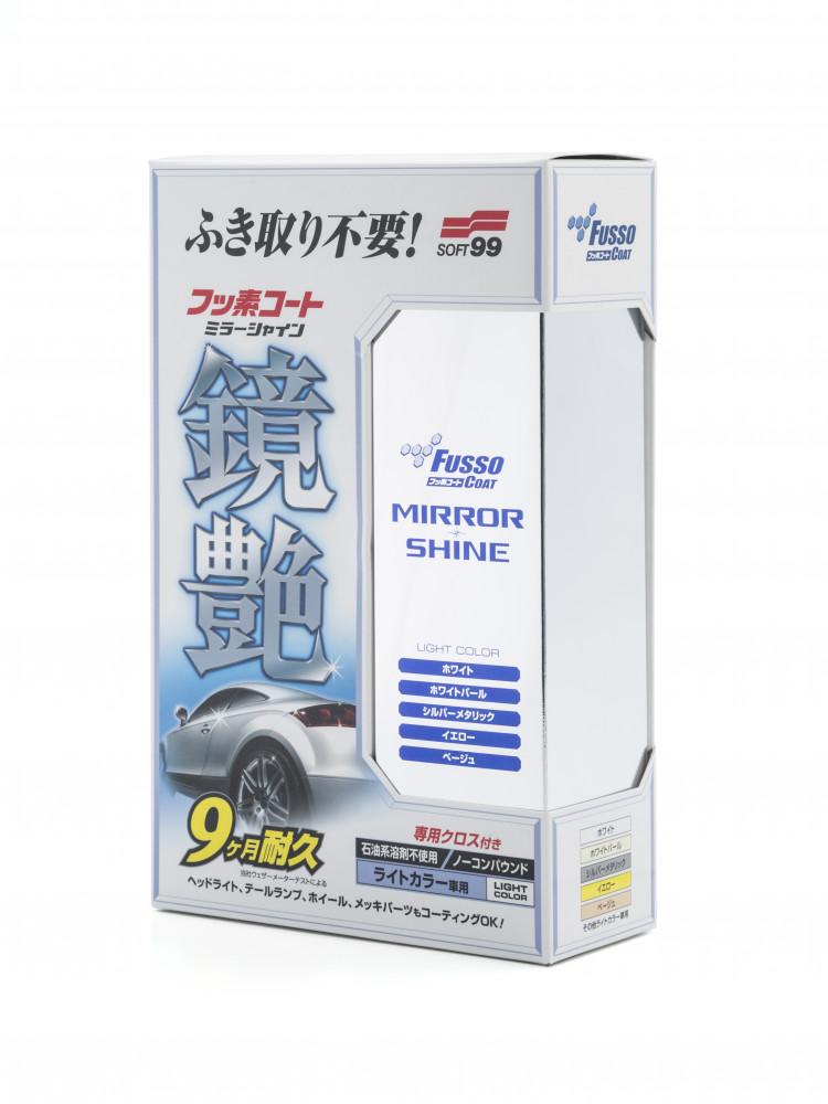 Покрытие для кузова для усиления блеска Soft99 Fusso Mirror Shine 9 Months для светлых, 250 мл 00351 купить в Абакане