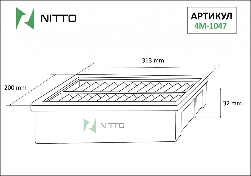 Фильтр воздушный Nitto 4M-1047 4M-1047 купить в Абакане