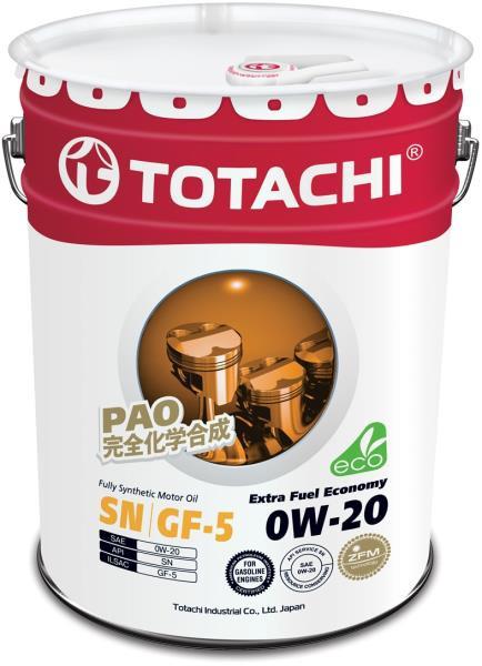 Моторное масло Масло моторное TOTACHI Extra Fuel SN синт. 0W20 20л 4562374690639 купить в Абакане