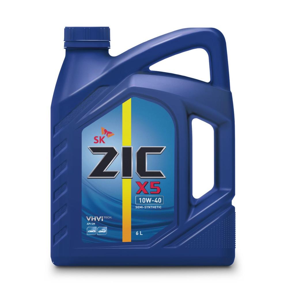 Моторное масло ZIC X5 10w40 SN / SM (бензин, п / синт.) 6л (1 / 3) 172622 купить в Абакане