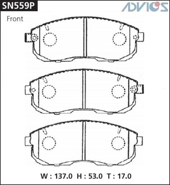 Дисковые тормозные колодки ADVICS SN559P SN559P купить в Абакане