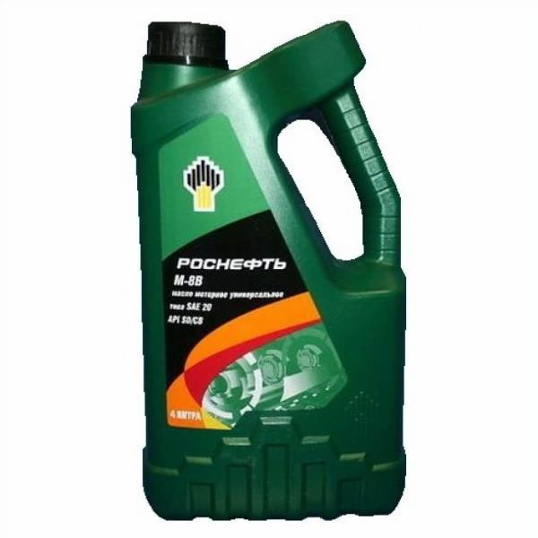 Моторное масло Масло моторное минеральное - РОСНЕФТЬ М-8В 4л 8880 купить в Абакане