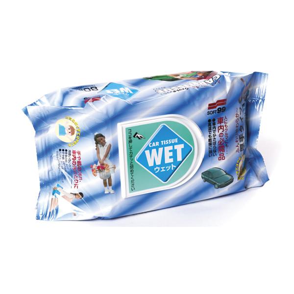 Салфетки влажные универсальные Soft99 Wet Tissue, 80шт. 04126 купить в Абакане
