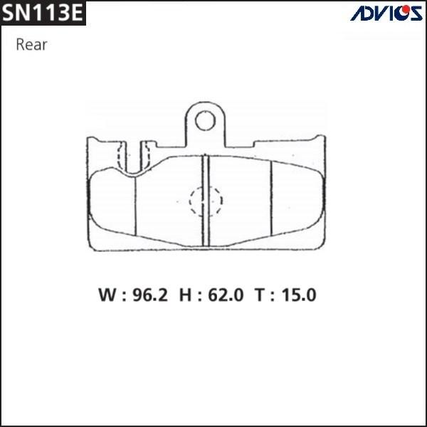 Дисковые тормозные колодки ADVICS SN113E SN113E купить в Абакане