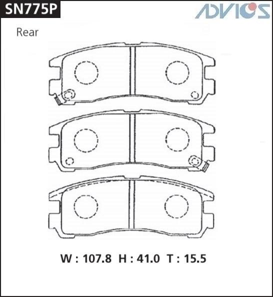 Дисковые тормозные колодки ADVICS SN775P SN775P купить в Абакане