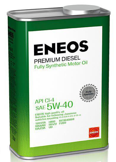 Моторное масло Масло моторное ENEOS Premium Diesel CI-4 Синтетика 5W-40 1л 8809478943091 купить в Абакане