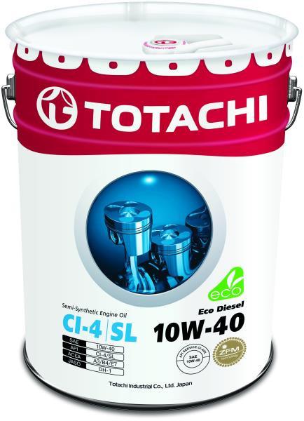 Моторное масло Масло моторное TOTACHI Eco Diesel CI-4 / CH-4 / SL псинт 10W40 20л 4562374690547 купить в Абакане