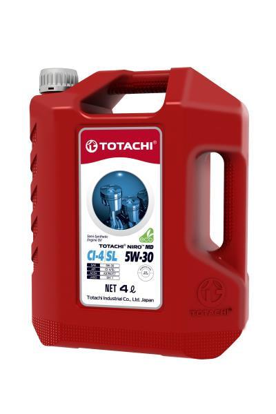 Моторное масло Масло моторное TOTACHI NIRO MD Semi-Synthetic CI-4 / SL 5W-30 пласт. 4л 4589904927331 купить в Абакане