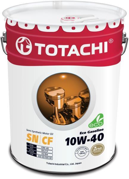 Моторное масло Полусинтетическое моторное масло TOTACHI Eco Gasoline SN / CF 10W-40 20л 4589904934926 купить в Абакане
