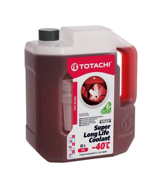 Жидкость охлаждающая низкозамерзающая TOTACHI SUPER LONG LIFE COOLANT Red -40C 2л 4589904520709 купить в Абакане