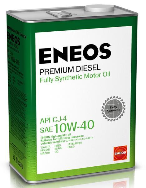 Моторное масло Масло моторное ENEOS Premium Diesel CJ-4 Синтетика 10W-40 4л 8809478943008 купить в Абакане
