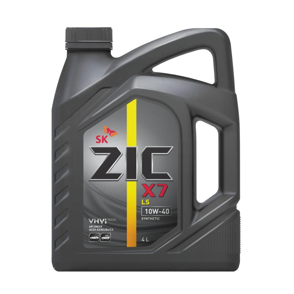 Моторное масло ZIC X7 LS 10w40 SM / CF, ACEA C3 4л (бензин, синтетика) (1 / 4) 162620 купить в Абакане
