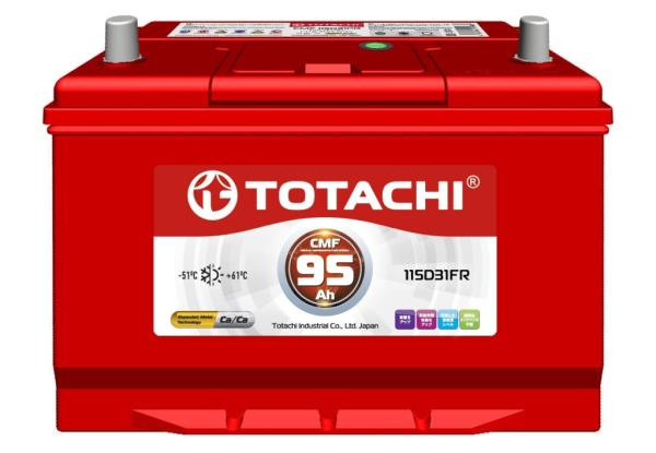 Аккумулятор TOTACHI CMF 95 а / ч 115D31 FR 4589904525766 купить в Абакане