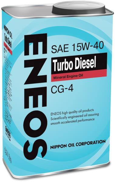 Моторное масло Масло моторное ENEOS Turbo Diesel CG-4 Минерал 15W40 0, 94л oil1427 купить в Абакане