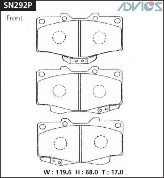 Дисковые тормозные колодки ADVICS SN292P SN292P купить в Абакане