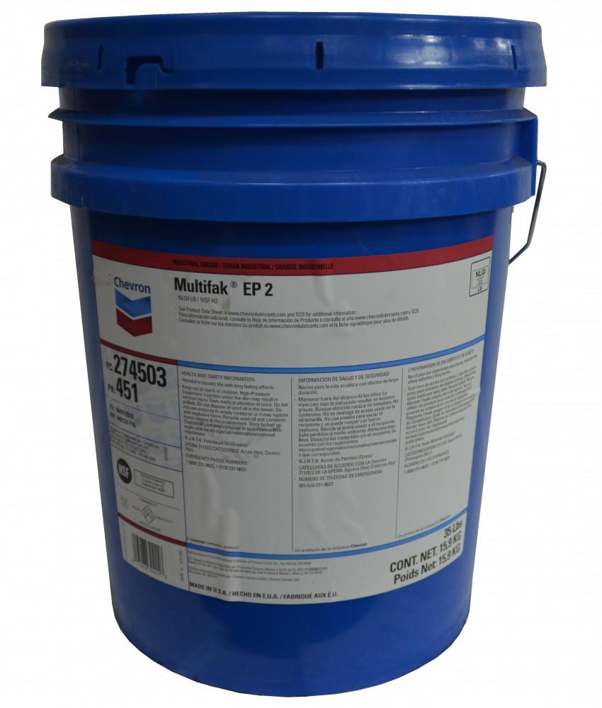 Смазка пластичная на основе литиевого мыла - CHEVRON MULTIFAK EP 2 15.9кг 274503451 купить в Владивостоке