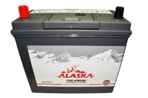 Аккумулятор ALASKA CMF 234 / 127 / 220, 50А / ч, ССА 450А, Прям. 60B24R silver+ 8808240010658 купить в Абакане