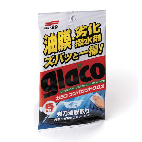 Салфетки для стекол очищающие Glaco Compound Sheet, 6 шт 04063 купить в Абакане