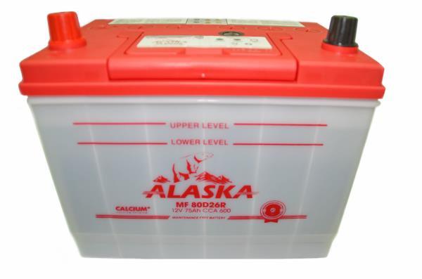 Аккумулятор ALASKA MF 257 / 172 / 220, 75А / ч, ССА 600А, Обслуж-й, Прям. 80D26R calcium + 8808240010511 купить в Абакане