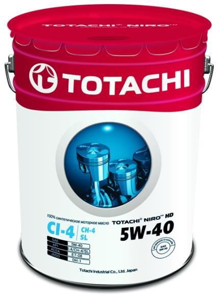 Моторное масло Масло моторное TOTACHI NIRO HD Synthetic API CI-4 / SL 5W-40 16.5 кг / 19, 34л 4589904921681 купить в Абакане
