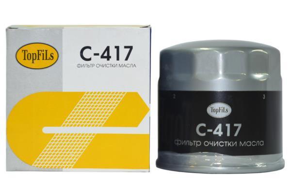 Фильтр масляный TOP FILS C-417 AJ04-14-302 C-417 купить в Абакане