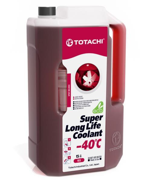 Жидкость охлаждающая низкозамерзающая TOTACHI SUPER LONG LIFE COOLANT Red -40C 5л 4589904924842 купить в Абакане