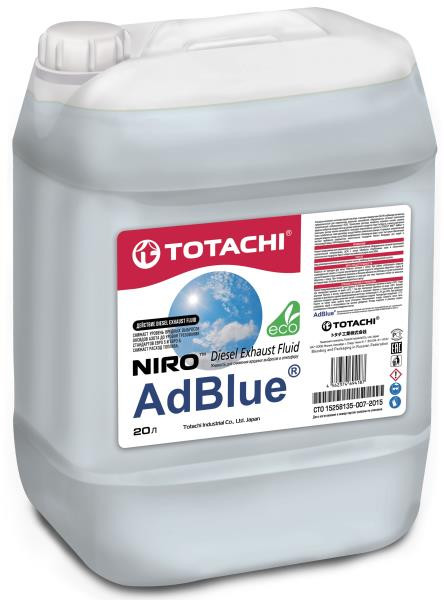 Средство для снижения оксидов азота дизельных двигателей AUS 32 TOTACHI NIRO AdBlue 20л / 20 кг 4562374694187 купить в Абакане