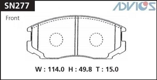 Дисковые тормозные колодки ADVICS SN277 SN277 купить в Абакане