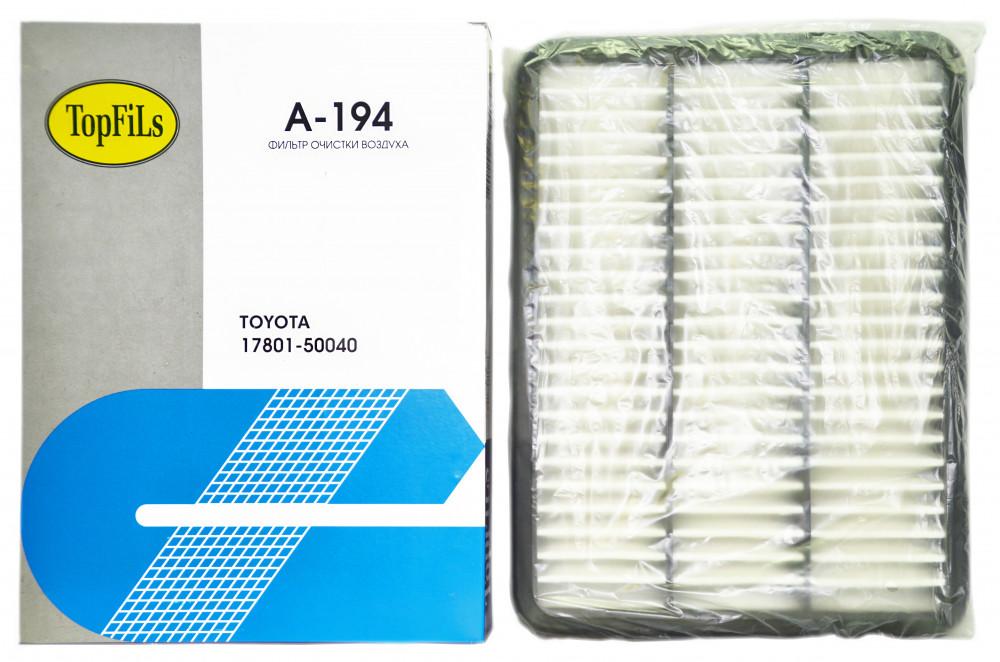 Фильтр воздушный TOP FILS A-194 17801-50040 A-194 купить в Абакане