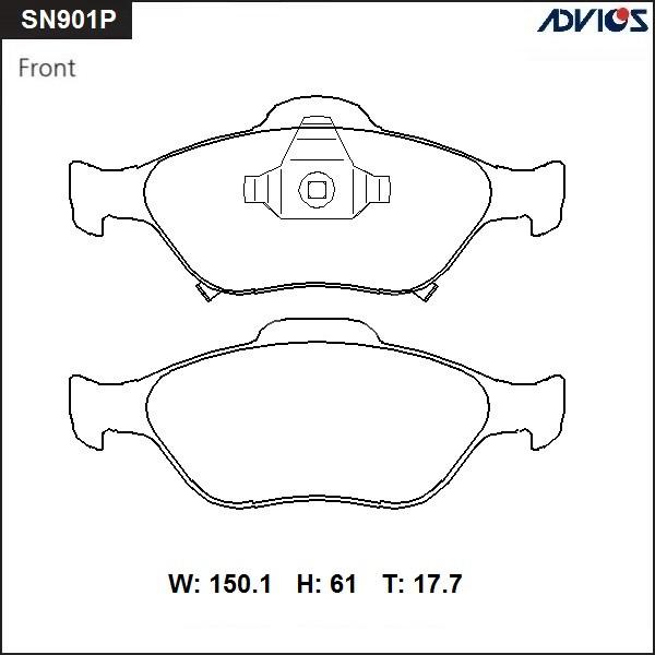 Дисковые тормозные колодки ADVICS SN901P SN901P купить в Абакане