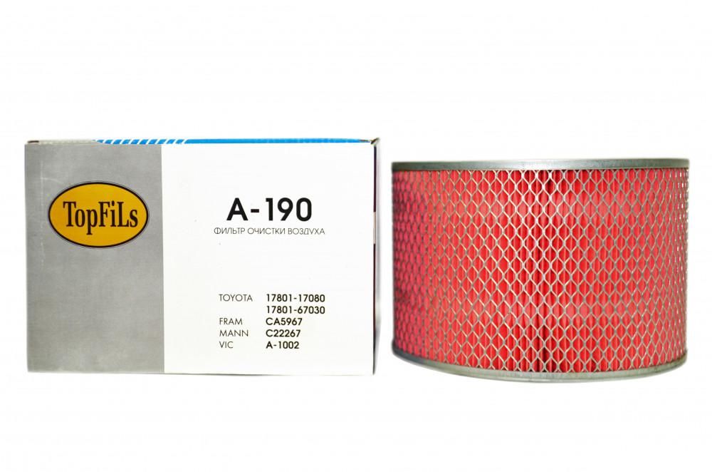 Фильтр воздушный TOP FILS A-190 17801-67030 A-190 купить в Абакане