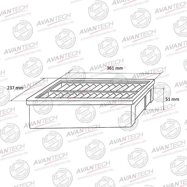 Фильтр воздушный Avantech-AF0528 AF0528 купить в Абакане