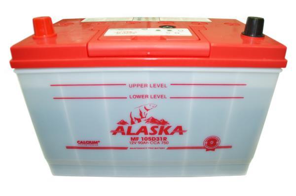 Аккумулятор ALASKA MF 302 / 172 / 220, 90А / ч, ССА 750А, Обслуж-й, Прям. 105D31R calcium + 8808240010535 купить в Абакане