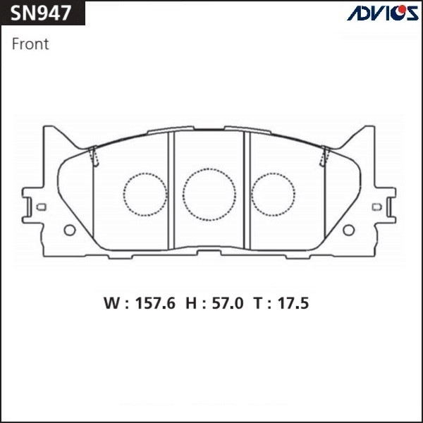 Дисковые тормозные колодки ADVICS SN947 SN947 купить в Абакане