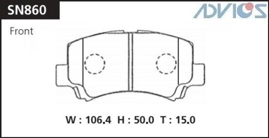 Дисковые тормозные колодки ADVICS SN860 SN860 купить в Абакане