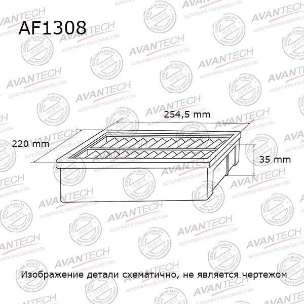 Фильтр воздушный Avantech-AF1308 AF1308 купить в Абакане