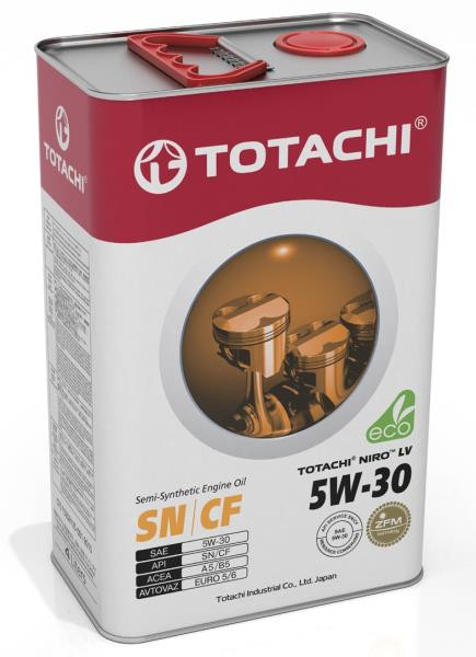 Моторное масло Масло моторное TOTACHI NIRO LV Semi-Synthetic SN / CF 5W-30 4л 4589904922015 купить в Абакане