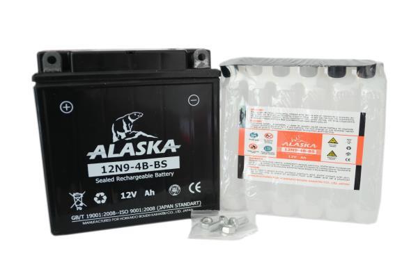 Аккумуляторная батарея ALASKA 9АЧ 12N9-4B-BS 12V 12N9-4B-BS купить в Барнауле