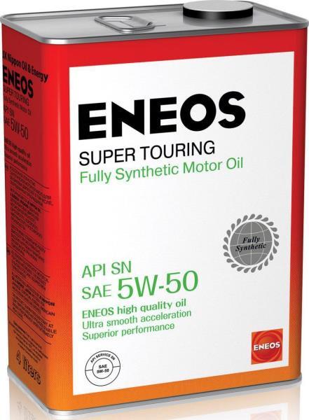 Моторное масло Масло моторное ENEOS Super Touring SN Синтетика 5W-50 4л 8809478941738 купить в Абакане