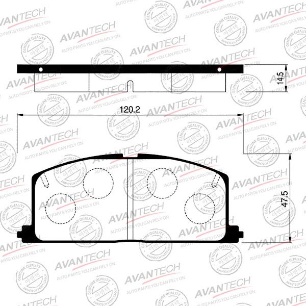 Колодки тормозные дисковые Avantech - AV756 AV756 купить в Абакане
