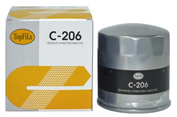 Фильтр масляный TOP FILS C-206 15208-W1111 C-206 купить в Абакане