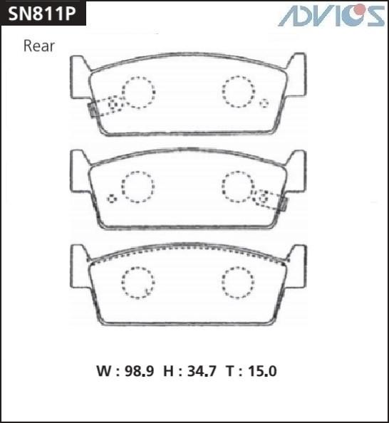 Дисковые тормозные колодки ADVICS SN811P SN811P купить в Абакане